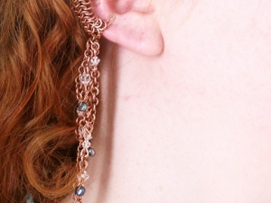 Alvena - Chainmaille Elf Ear