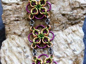 Annora (Copper/Silver Gray/Lime Green/Purple)