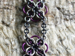 Annora (Bracelet)(Sterling Silver/Purple/Blue-Black)