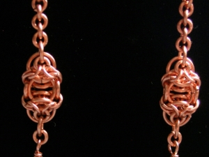 Celtic Raindrops (Earrings)(Copper/Quartz)