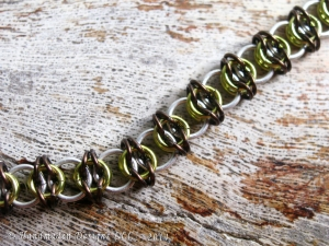 Celtic Visions (Bracelet)(Sterling Silver/Dark Brown/Lime Green)