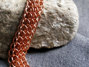 Dragonscale on the Bias (Bracelet)(Copper)