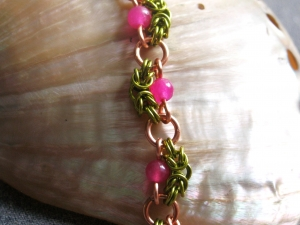 Nadine (Copper/Lime Green/Pink Topaz)