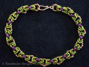 Hannele (Copper/Lime Green/Purple-pink)