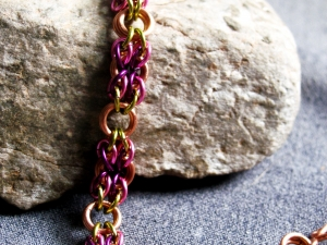 Snake Eyes (Bracelet)(Copper/Lime Green/Hot Pink/Purple)