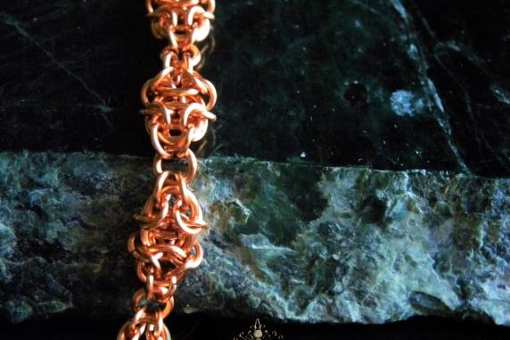 Copper Gnomish chainmaille bracelet - Handmaden Designs LLC