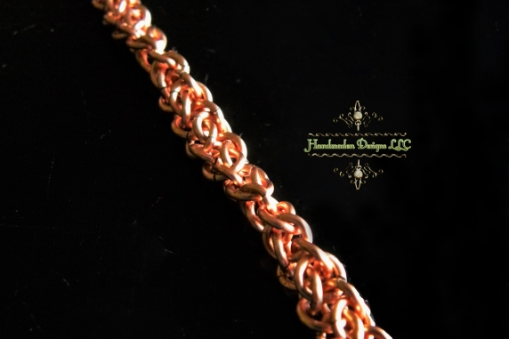 Copper Half Persian 3in1 Flip bracelet - Handmaden Designs LLC