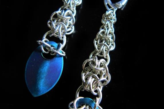 Sterling silver Graduated Mordor scale earrings by Handmaden Designs LLC