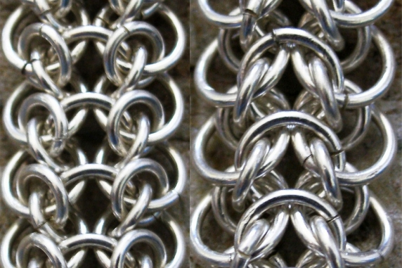 Sterling silver Moria weave chainmaille bracelet