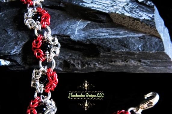 Snow White inspired Romanov chainmaille bracelet