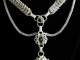 Sterling silver chainmaille statement necklace - Handmaden Designs LLC