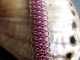 Sterling silver, pink, and blue-black Crotalus bracelet by Handmaden Designs LLC
