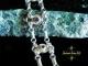 Sterling silver Tanzanite and Smokey Quartz Half Byzantine bracelet