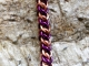 Half Persian 3in1 copper and purple enameled copper bracelet