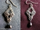 Sterling silver and tantalum Chelydra chainmaille earrings