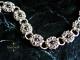Sterling silver Romanov bracelet with Freshwater Pearls by Handmaden Designs LLC