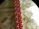 Copper and enameled copper Vipera Aspis chainmaille bracelet