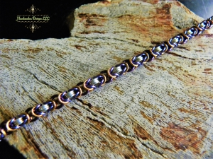 Colorful Sterling Silver Byzantine bracelet - Handmaden Designs LLC