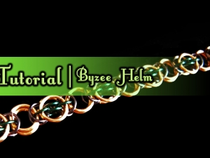 Byzee Helm chainmaille weave tutorial by Handmaden Designs LLC