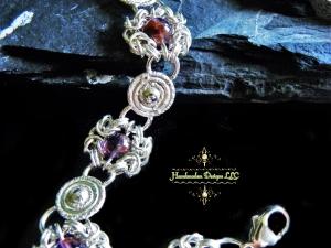 Sterling silver Melody Stone Romanov bracelet by Handmaden Designs LLC