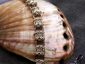 Sterling silver and tantalum Orc Weave bracelet