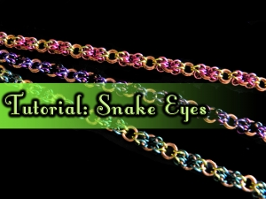 Snake Eyes chainmaille weave tutorial by Handmaden Designs LLC