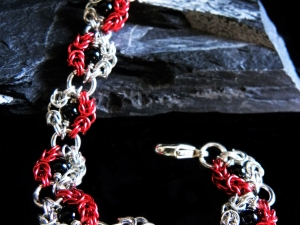 Snow White inspired Romanov chainmaille bracelet