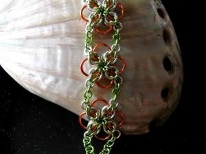 Annora (Bracelet)(Sterling SIlver/Green/Orange)