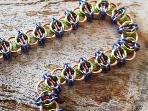 Celtic Visions (Bracelet)(Copper/Lime Green/Lavender)