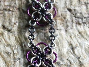Annora (Bracelet)(Sterling Silver/Purple/Blue-Black)