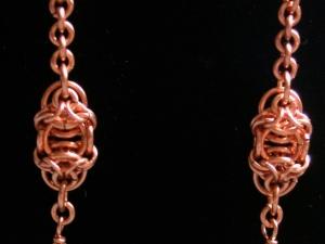 Celtic Raindrops (Earrings)(Copper/Quartz)