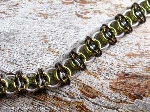 Celtic Visions (Bracelet)(Sterling Silver/Dark Brown/Lime Green)