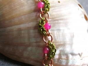 Nadine (Copper/Lime Green/Pink Topaz)