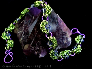 Nadine (bracelet) (Lime Green/Purple)
