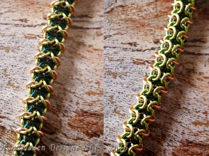 Reinforced Ilkorin (Bracelet)(Copper/Teal/Lime Green)